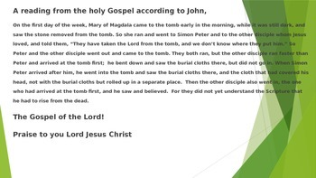 Easter Empty Tomb Resurrection Snack PPT