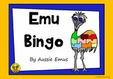 Emu Bingo - A Fun Colour by Word Activity