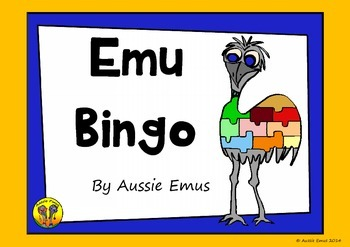Emu Bingo - A Fun Colour by Word Activity