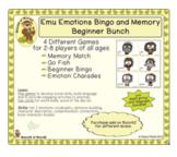 Emu Emotions Bingo and Memory Game- Beginner Bunch