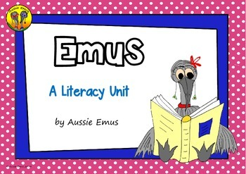 Informational Texts, Comprehension Activities and Writing Tasks about Emus!