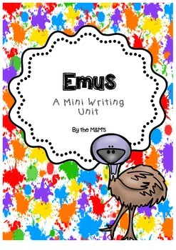 Emus Mini Writing Unit