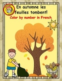 En Automne - Les Couleurs - 6 French color by number pages for autumn/fall