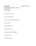 En Espanol 1 Etapa Preliminar Questions Oral Exam or Practice