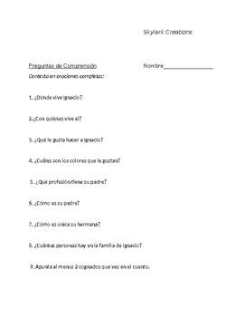 Spanish 1 Una Familia Unica  Reading Comprehension