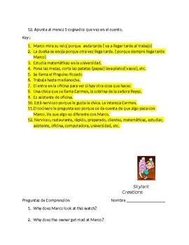 En Espanol 1 Unidad 2 etapa 2 Reading Comprehension