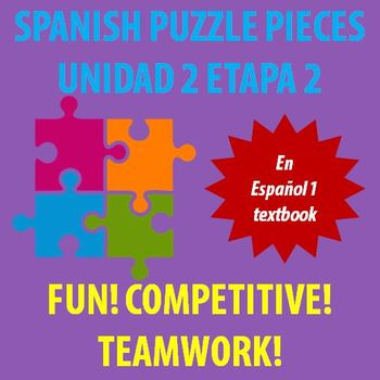 En Espanol 1 - Unidad 2 Etapa 2 - vocabulary puzzle pieces!