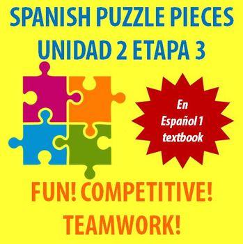 En Espanol 1 - Unidad 2 Etapa 3 - vocabulary puzzle pieces!