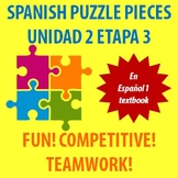 En Espanol 1 - Unidad 2 Etapa 3 - vocabulary puzzle pieces!