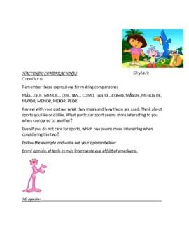 En Espanol 1 Unidad 3 etapa 2 Practice with Comparisons Ma