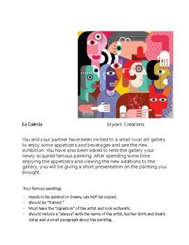 Spanish 2    Art Gallery Project