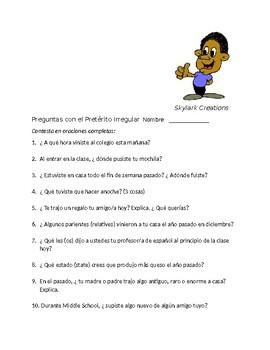 En Espanol 2 Unidad 1 etapa 2  Practice with Irregular Preterit Verbs in Unit