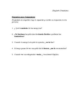 En Espanol 2 Unidad 2 etapa 3 Packet  -Reading Speaking & Writing