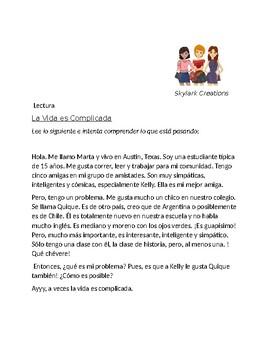 En Espanol 1 Unidad 1 etapa 3 Story with vocabulary from etapa
