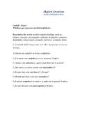 Spanish 1  Los Sentimientos  questions and comparisons