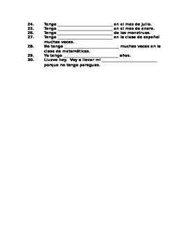 En Español Level 1 - U3 Etapa 3 - Practice fill-in sentences