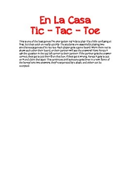 En La Casa Tic Tac Toe Game