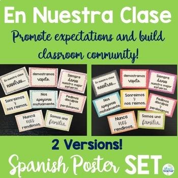 En Nuestra Clase Poster Set- Colorful Confetti