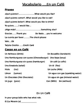 En Un Cafe (In the Cafe)