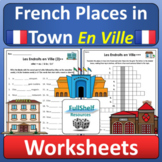 En Ville French Places in Town Community Buildings Worksheets