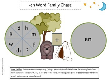 En Word Family Acitivites