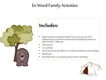 En Word Family Acitivites