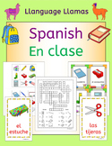 Spanish classroom and school vocabulary - En Clase - activ
