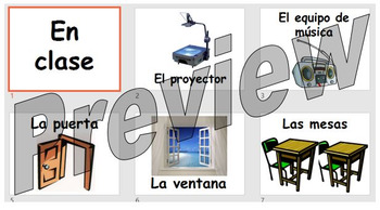 En clase - objects found in the classroom