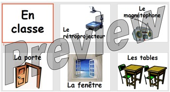 En classe - objects found in the classroom