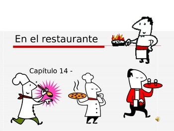 En el Restaurante Vocabulary