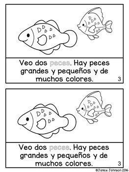 En el acuario ~ At the Aquarium ~ Marine Animal Readers {Bilingual version}