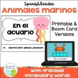 Spanish Marine Animal Reader | animales del mar | Print & Boom Cards | español