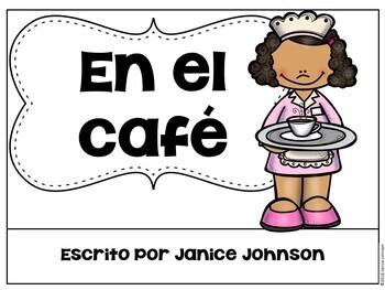 En el café ~ Spanish Cafe Reader & Cut & Paste {en español}