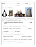 En el centro - Vocabulario worksheet - with answer key - A