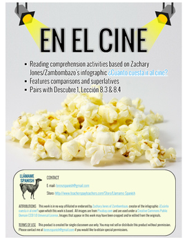 En el cine: Comparisons & Superlatives Infographic Activites