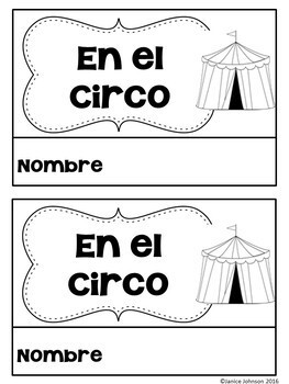 En el circo ~ At the Circus ~Circus Animal Reader {Bilingual version}