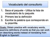 En el consultorio - Vocabulary Practice: Descubre 2, Lección 1