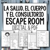 En el consultorio y el cuerpo Spanish break out room and escape activity