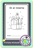 En el invierno Winter Spanish Printable Minibook