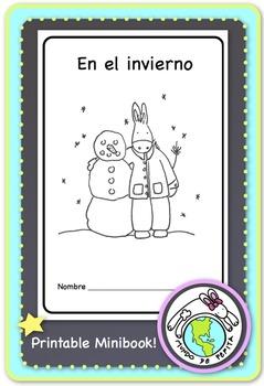 En el invierno Winter Spanish Printable Minibook