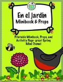 En el jardín Spring Spanish Mini Theme Pack Minibook, Prop