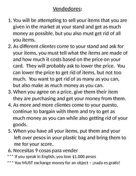 En el mercado market activity