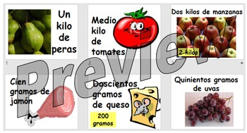 En el mercado - teaching quantities when buying fruit and veg