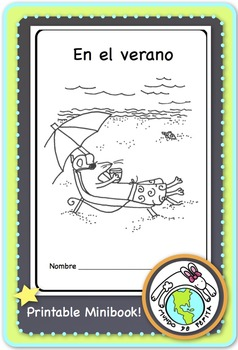 En el verano Summer Spanish Printable Minibook