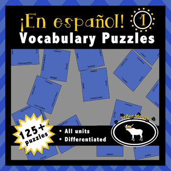 En español 1 Spanish Vocabulary Puzzles (Entire Textbook)