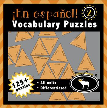 En español 2 Spanish Vocabulary Puzzles (Entire Textbook)