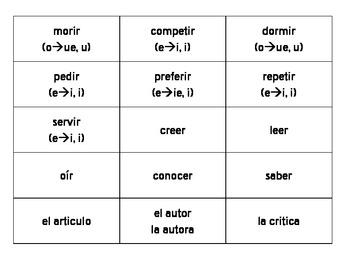 En español 2, Unidad 1 Etapa 3 vocabulary cut-outs