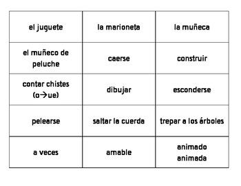 En español 2, Unidad 2 Etapa 1 vocabulary cut-outs