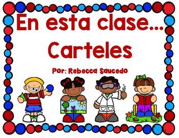 En esta somos... carteles In this class we are... signs (Spanish)