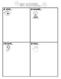 En hiver vocabulary organizer